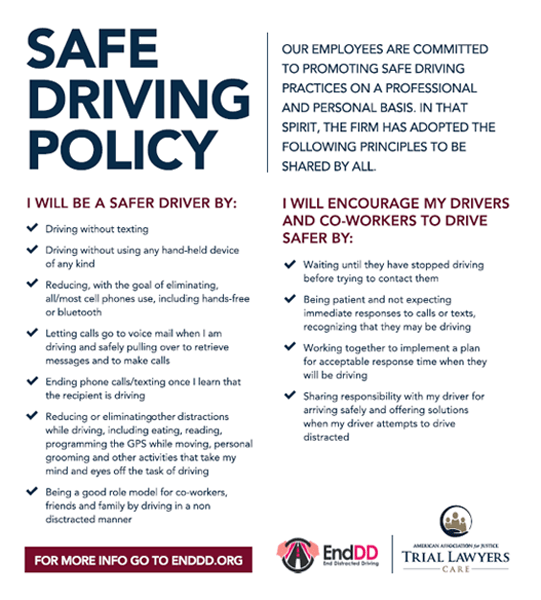 Safe Driving Policy